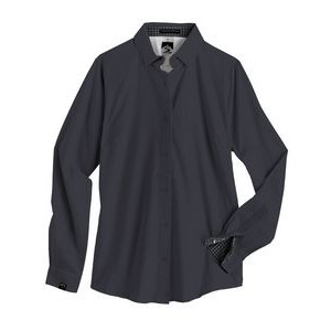 Women's Solid 4-Way Stretch Eco-Woven Shirt