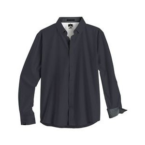 Men's Solid 4-Way Stretch Eco-Woven Shirt