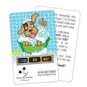 Stock Puppy Tub Tester Card w/ Temperature Strip