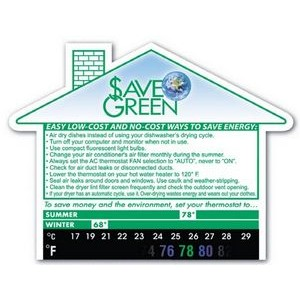 Green Line® Eco Thermo-Strip™ Large House Shape Magnet