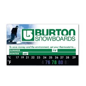 Green Line® Eco Thermo-Strip™ Magnet/ BizCard with VibraColor®