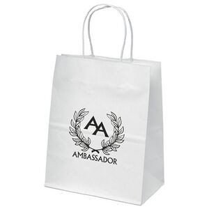 Mini White Shopper Bag (Flexo Ink)