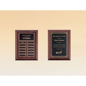 "Cherry Finish Perpetual Plaque w/ 12 Name Plates (9""x12"")"