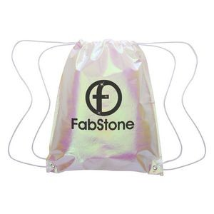 Iridescent Pearl Drawstring Bag