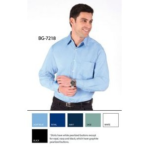Men's Easy Care Stretch Poplin Long Sleeve Shirt w/ Patch Pocket