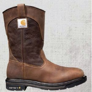 "Carhartt® Men's Rugged Flex® 11"" Square Steel Toe Wellington Boots (Two-Tone Brown)"