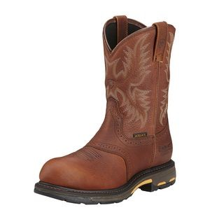 Ariat® Men's Workhog® Pull-On H2O Composite Toe Boots (Dark Copper)