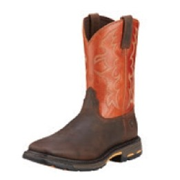 Ariat® Men's Workhog® Wide Square Toe Boots (Dark Earth/Brick)