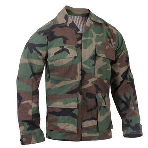 Woodland Camouflage Rip-Stop B.D.U. Shirts (XS to XL)